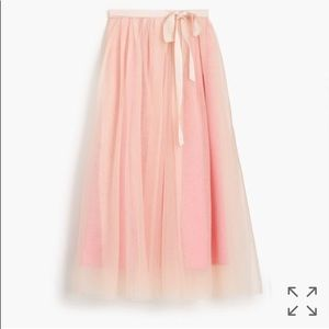 J crew tulle ball skirt in pale pink